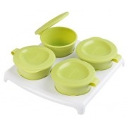 Tommee Tippee Explora Pop Up Freezer Pots & Tray - Green