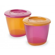Tommee Tippee Explora Pop Up Weaning Pots 2-Count (Girl)
