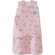 Halo SleepSack Swaddle - Pink Butterfly Scribble (Size: 0-3 mths)