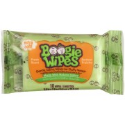 Boogie Wipes Natural Saline Kids and Baby Nose Wipes for Cold and Flu, Fresh Scent, 10 Count