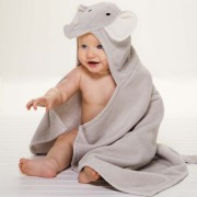 Bath Wrap - Grey Elephant