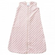 HALO SleepSack Wearable Blanket - Pink Plushy Dot Velboa (Size: 6-12 mths)