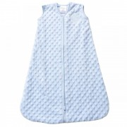 HALO SleepSack Wearable Blanket - Blue Plushy Dot Velboa (Size: 6-12 mths)