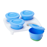 Tommee Tippee Explora Pop Up Freezer Pots & Tray - Blue