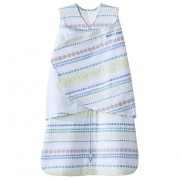 Halo Swaddle - Stripes/Circles Blue (0-3m)