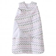 HALO SleepSack Swaddle Cotton Muslin Pink Chevron (Size: 0-3m, 3-6 m)