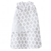 HALO SleepSack Swaddle Cotton Muslin Gray Tree (0-3m)