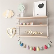 Gold I love you Acrylic Sign