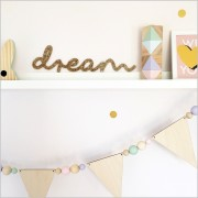 Gold Glitter Dream Acrylic Sign