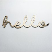 Hello Silver Acrylic Sign