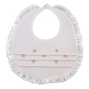 Lily Rose Pink Bib with Ruffles