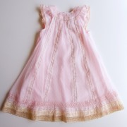 Pink Chiffon & Lace Dress (3m, 6m)