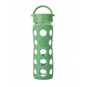 Lifefactory BPA-Free Glass Water Bottle with Leakproof Cap & Silicone Sleeve, Grass Green (470 ml)