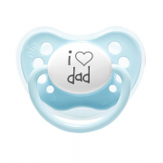 "Littlemico ""I LOVE DAD"" Blue Pacifier"