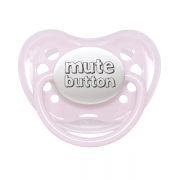 Littlemico Mute Button Pink Pacifier