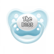 "Littlemico ""The Boss"" Pink Pacifier"
