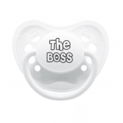 "Littlemico ""The Boss"" White Pacifier"