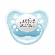 Littlemico Mute Button Blue Pacifier