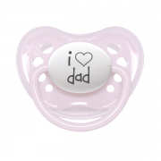 "Littlemico ""I LOVE DAD"" Pink Pacifier"