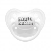 Littlemico Mute Button White Pacifier