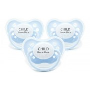 Littlemico Personalised Pacifiers - Blue (3 Pack)