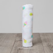 Ice Cream Social Cotton Muslin Swaddle