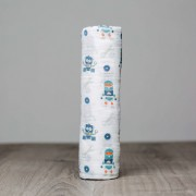 Robots Cotton Muslin Swaddle