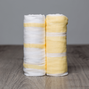Yellow Stripes Muslin Swaddle - 2 PACK