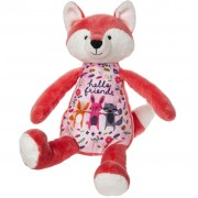 """Hello Friends"" Whimsy Doodles Fox Soft Toy"