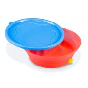 Booginhead Super Grip Bowl & Lid - Blue