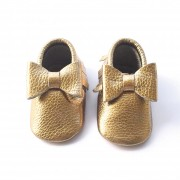 Gold Bow Moccasin