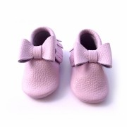Pink Bow Moccasin