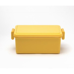 Japanese GEL-COOL Large Bento Lunchbox, Yellow Mango