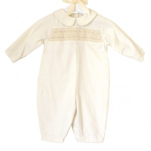 Petit Ami Ivory Embroidered Coverall