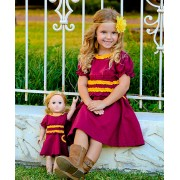 Marsala Spice Charlotte Dress & Doll Dress (5yrs)