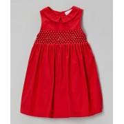"""Elegant in Red"" Flower Embroidered Dress (4yrs)"