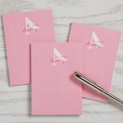Alphabet Fun Personalized Mini Notepad Set of 3
