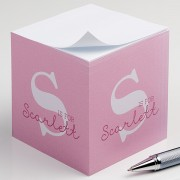 Alphabet Fun Personalized Paper Note Cube