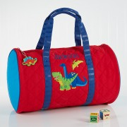 Red Dino Embroidered Sports Bag