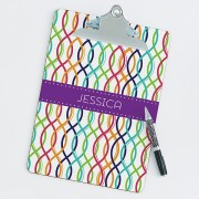 Geometric Shapes Personalized Clipboard