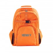 Solid Orange Embroidered Backpack