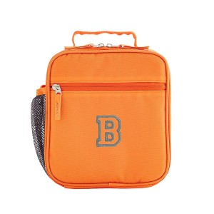 Solid Orange Embroidered Lunchbox