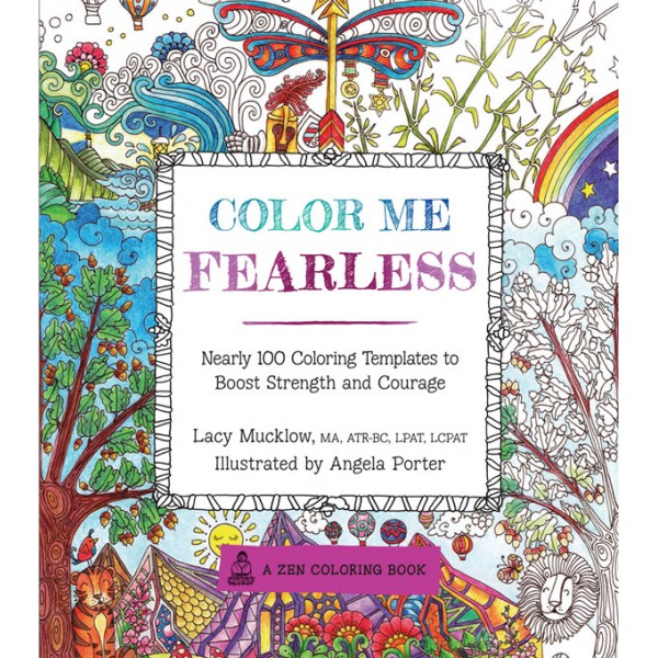 color me fearless coloring book - Color Me Books