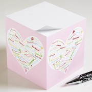 Her Heart Of Love Personalized Paper Note Cube
