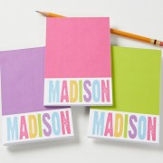 All Mine Personalized Mini Notepad (set of 3)