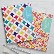 Geometric Subjects Personalized Large Notebooks (Set of 2)