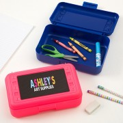 All Mine Personalized Pink Pencil Box