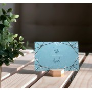 Inspirational Quote Cards with Wooden Holder (Set of 12 cards)