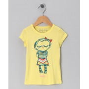 Yellow Shy Lily Tee (size 4, 5 yrs)