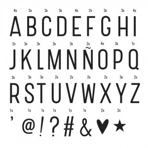 Lightbox letter set (Basic)